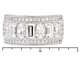 Pre-Owned White Cubic Zirconia Platineve Ring 3.47ctw