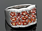 Pre-Owned Red Winza Sapphire Sterling Silver Ring 2.25ctw