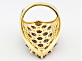 Pre-Owned Purple Amethyst 18k Yellow Gold Over Sterling Silver Ring 5.73ctw
