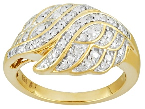 Pre-Owned Diamond 14k Yellow Gold Over Sterling Silver Ring .25ctw
