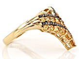 Pre-Owned Orange spessartite 18k yellow gold over sterling silver ring 1.32ctw