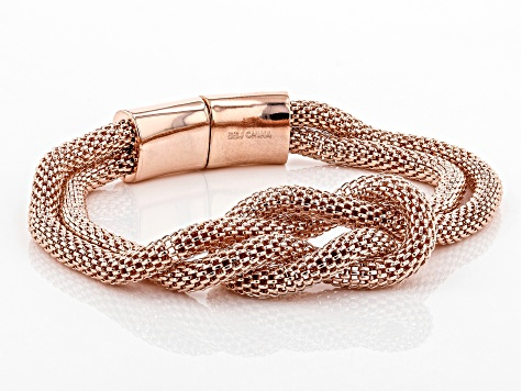 Pre-Owned Copper Two-Strand Mesh Knot Bracelet