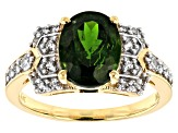 Pre-Owned Green Chrome Diopside 10k Yellow Gold Ring 2.65ctw