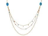 Pre-Owned Turquoise 18k Gold Over Silver Necklace