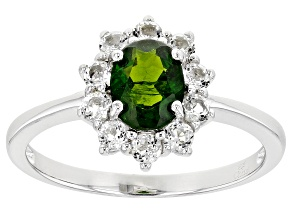 Pre-Owned Green Chrome Diopside Sterling Silver Ring 2.00ctw