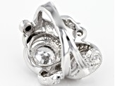 Pre-Owned White Cubic Zirconia Rhodium Over Sterling Silver Ring 7.82CTW