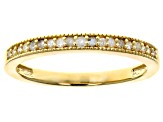 Pre-Owned White Diamond 14K Yellow Gold Over Sterling Silver And Rhodium Over Sterling Silver Ring S