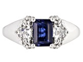 Pre-Owned Blue kyanite rhodium over silver ring 1.49ctw
