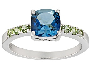 Pre-Owned London blue topaz rhodium over sterling silver ring 1.65ctw