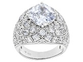 Pre-Owned Cubic Zirconia Silver Ring 10.05ctw (7.72ctw DEW)