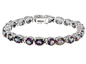 Pre-Owned Multicolor Mystic Topaz® Sterling Silver Bracelet 32.30ctw
