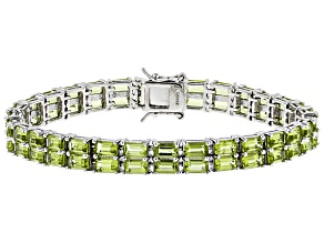 Pre-Owned Green Peridot Sterling Silver Bracelet 14.76ctw