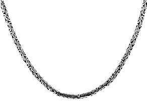 Pre-Owned Sterling Silver Byzantine Chain