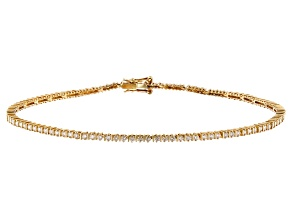 Pre-Owned White Lab-Grown Diamond 14K Yellow Gold Bracelet 1.02ctw