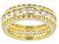 Pre-Owned White Cubic Zirconia 18K Yellow Gold Over Sterling Silver Ring 3.61CTW