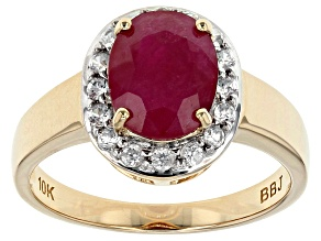 Pre-Owned Red Ruby 10k Yellow Gold Ring 2.19ctw