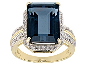 Pre-Owned London Blue Topaz 10k Gold Ring 7.96ctw