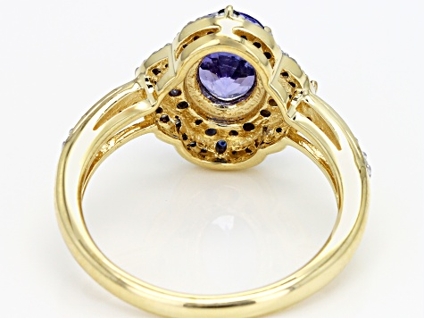 Pre-Owned Blue Tanzanite 10k Yellow Gold Ring 1.47ctw