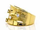 Pre-Owned Moda Al Massimo® White Cubic Zirconia 18K Yellow Gold Over Bronze Ring