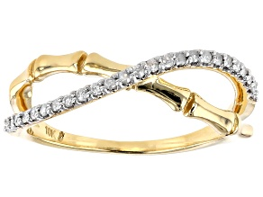 Pre-Owned White Diamond 10k Yellow Gold Ring 0.16ctw