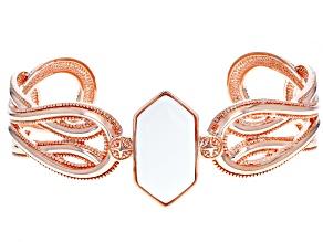 Pre-Owned Copper White Onyx Cuff Bracelet
