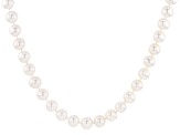 Pre-Owned White Cultured Freshwater Pearl Sterling Silver Strand Necklace 24 inch