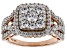 Pre-Owned White Cubic Zirconia 18K Rose Gold Over Sterling Silver Cluster Ring 2.60ctw