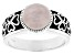 Pre-Owned Pink Rose Quartz Silver Ring