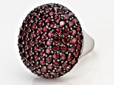 Pre-Owned Purple Rhodolite Rhodium Over Silver Ring 8.09ctw