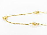 Pre-Owned Yellow Brazilian Citrine 18K Yellow Gold Over Sterling Silver Station Necklace 30.00ctw