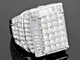 Pre-Owned Cubic Zirconia Silver Ring 8.75ctw (5.57ctw DEW)