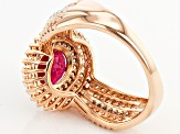Pre-Owned Mahaleo Ruby 14k Rose Gold Ring 2.36ctw