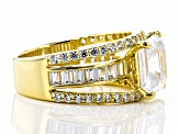 Pre-Owned White Cubic Zirconia 18k Yellow Gold Over Sterling Silver Ring 10.81ctw
