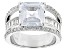 Pre-Owned White Cubic Zirconia Rhodium Over Sterling Silver Ring 10.81ctw