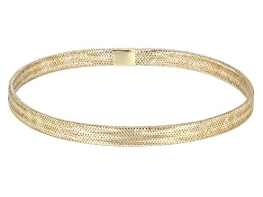 Pre-Owned 10k Yellow Gold Hollow Stretch Mesh Bangle Bracelet 5mm