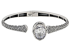 Pre-Owned White Cubic Zirconia Rhodium Over Sterling Silver Bracelet 9.38ctw