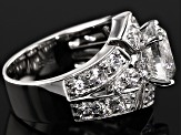 Pre-Owned Cubic Zirconia Sterling Silver Ring 10.48ctw