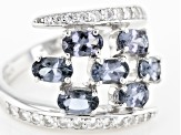 Pre-Owned Platinum Color Spinel Sterling Silver Ring 1.78ctw