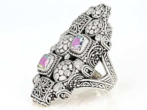 Pre-Owned Zero Saturn ™ Mystic Quartz ® Silver Ring 0.94ctw