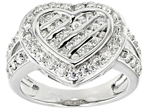 Pre-Owned Moissanite Ring Platineve™ 1.03ctw DEW