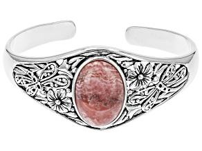 Pre-Owned Rhodochrosite Silver Cuff Bracelet