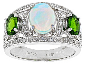 Pre-Owned Ethiopian Opal Sterling Silver Ring 2.01ctw