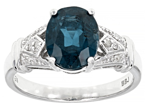 Pre-Owned Blue Chromium Kyanite Rhodium Over Silver Ring 2.74ctw