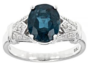Pre-Owned Blue Chromium Kyanite Rhodium Over Silver Ring 2.74ctw