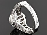 Pre-Owned White Cubic Zirconia Sterling Silver Dillenium Cut Ring 6.41ctw