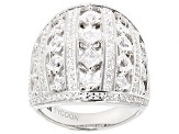 Pre-Owned White Cubic Zirconia Platineve Ring 4.65ctw