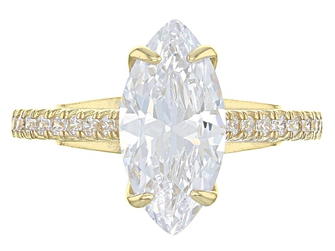 Pre-Owned White Cubic Zirconia 10k Yellow Gold Ring 4.62ctw