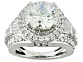 Pre-Owned Cubic Zirconia Silver Ring 8.60ctw (5.23ctw DEW)