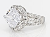 Pre-Owned Cubic Zirconia Silver Ring 3.22ctw