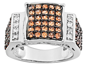 Pre-Owned Mocha Zircon Silver Ring. .29ctw